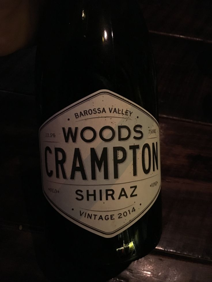 Woods Crampton 2014 Shiraz barossa valley