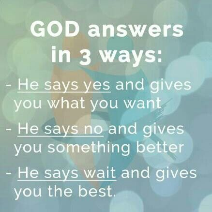 I will wait on His best. ♡