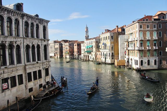 Venice, Italy.  Romantic yes, but very dirty and the buildings are sinking into the sea as the water rises up the buildings flooding the lowers floors in some areas.