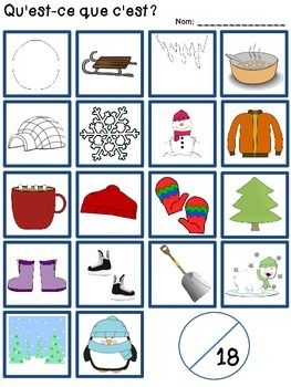 C'est l'hiver - Reading, Writing, & Assessment for Gr 1 French Immersion