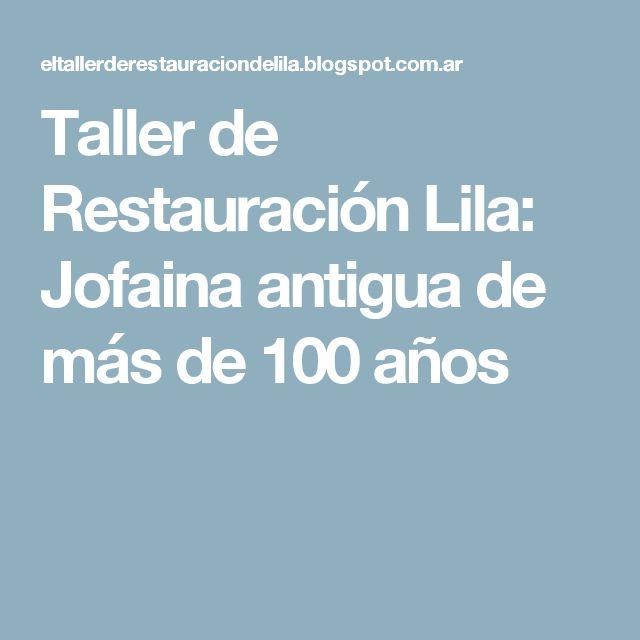 Taller de Restauración Lila: Jofaina antigua de más de 100 años