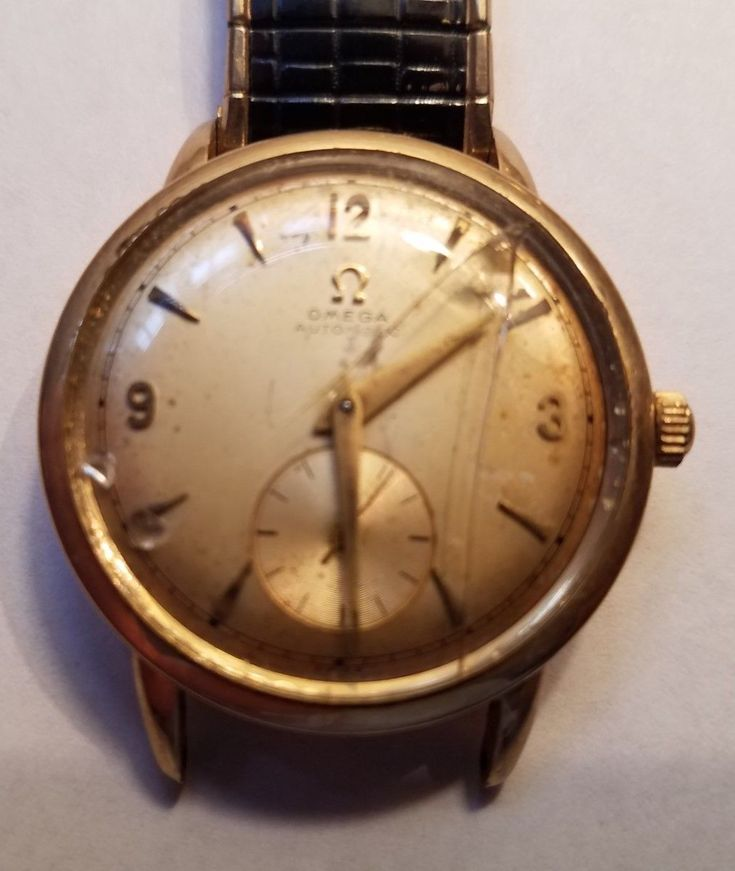 1960's OMEGA AUTOMATIC WRIST WATCH ( 14KT GOLD FILLED)-Works,needs crystal+band