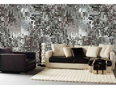 "Mural ""Silver Sequins"". A wallpaper mural from Muralunique.com."