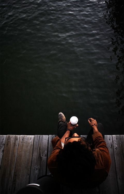 sitting on the dock...