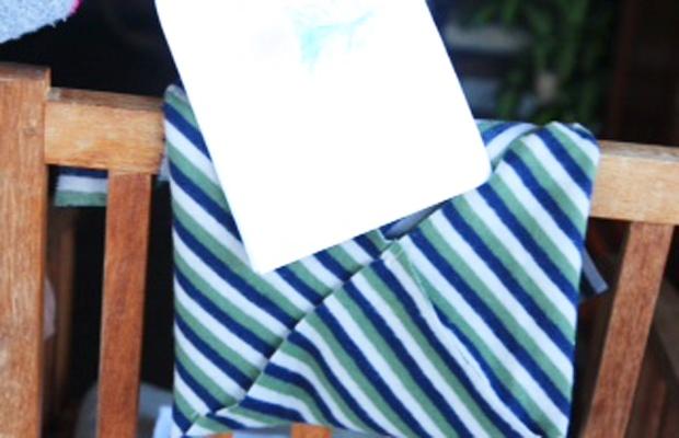 Tutorial busta in tessuto per la Festa del Papà