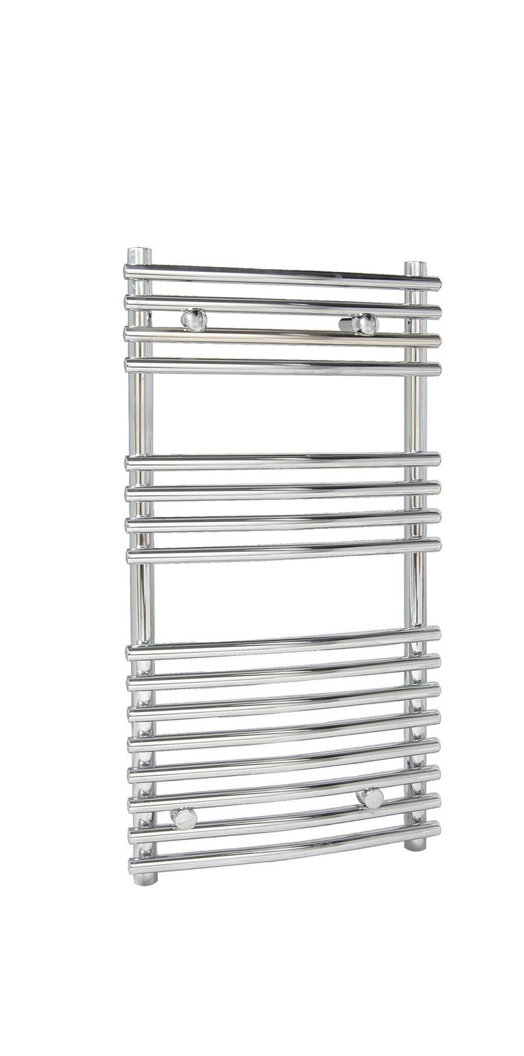 Kudox Leamington Curved Ladder Contemporary Towel Warmer Chrome (H)900 (W)450mm | Departments | DIY at B&Q