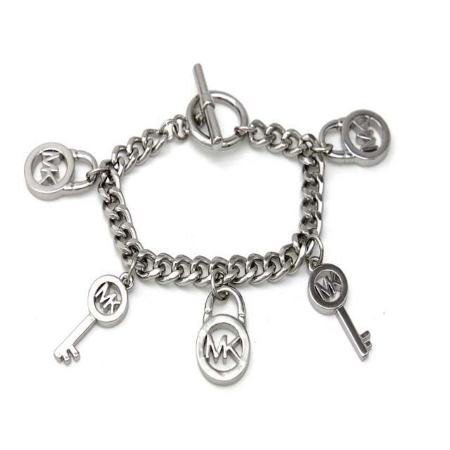 Michael Kors Keys And Locks Silver Accessories Outlet