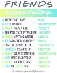Gossip Girl & Friends TV Workouts (with FREE Printables)