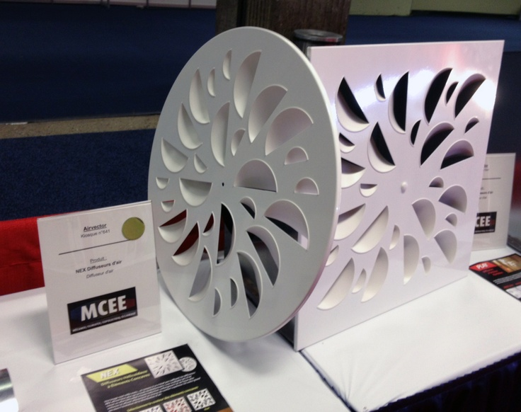 Airvector NEX diffuser wins the Best New Product Award in the Air Heating category @ MCEE 2013 New Products Contest
