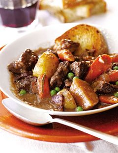 Barefoot Contessa's beef stew. Perfect way to warm the house and the belly during the winter!