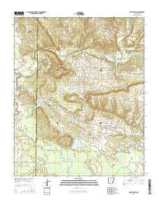 ~ Hattieville AR topo map, 1:24000 scale, 7.5 X 7.5 Minute, Current, 2014
