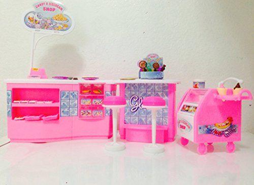 barbie size dollhouse furniture ice cream amp candy shop play set gloria httpwwwamazoncomdpb00mqaag4mrefcm_sw_r_pi_dp_rtzzub0yfapaz candy shops amazoncom barbie size dollhouse
