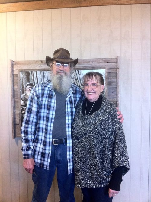 Duck Dynasty.........Si & his beautiful wife, Christine. They've been married 43 years and counting.