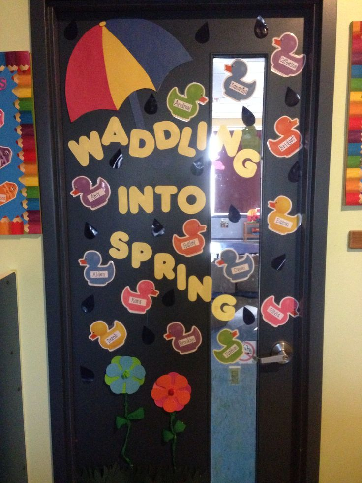 Classroom Decorations For April ~ Spring classroom door my projects pinterest