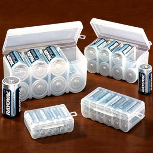 BATTERY STORAGE CASE SET (4PC SET FOR ALL OF YOUR BATTERY STORAGE NEEDS!) $9.99+6 Amz