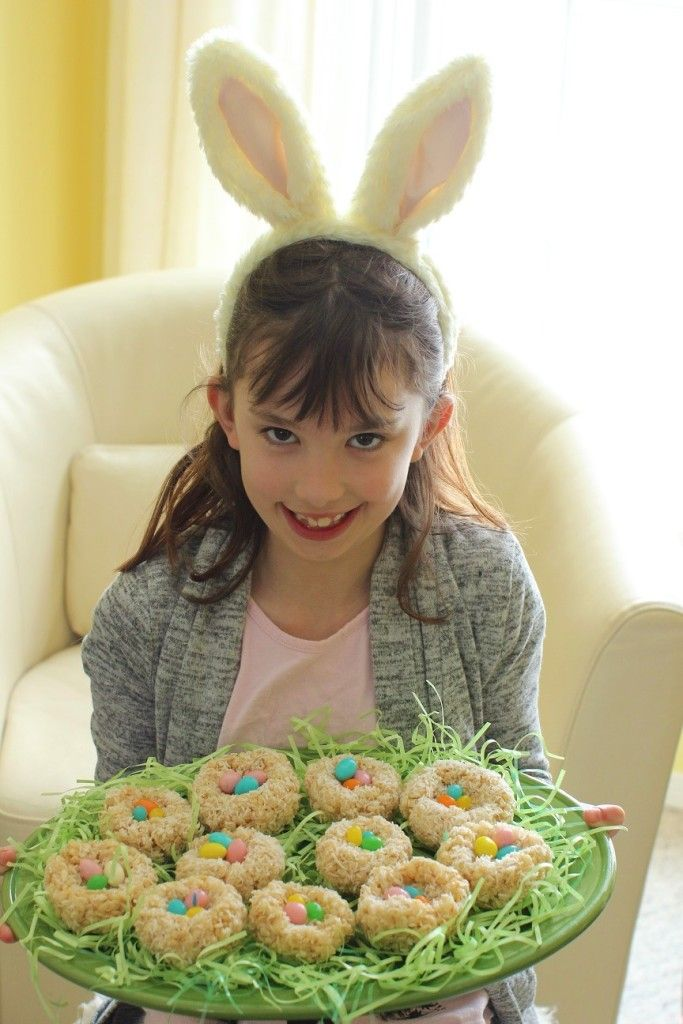 Crispy Rice Easter Egg Nests: Cooking with Kids