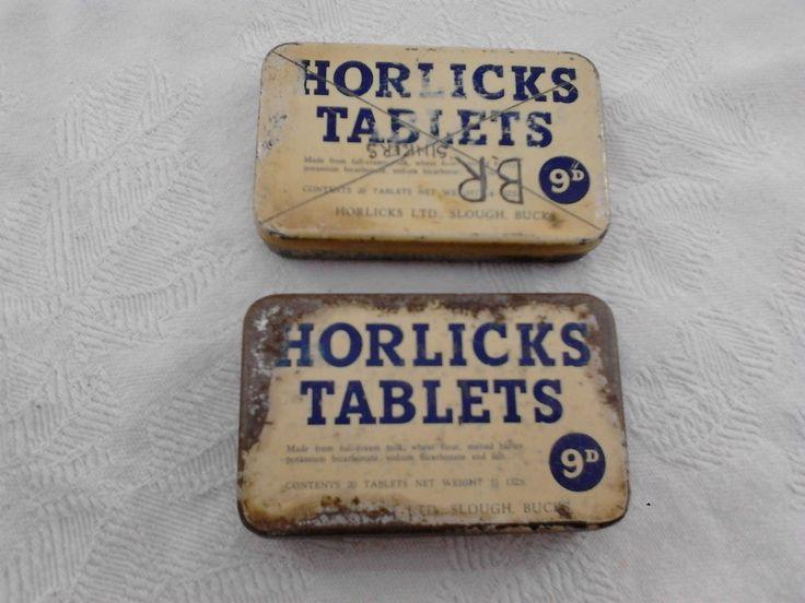 horlicks tablets vintage tin