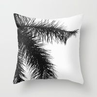 The Palm Project Throw Pillow by CoKiCu NOW AVAILABLE on @society6   #palm #palmtree #interior #interiordesign #homedecor #blackandwhite #black #white #photography #travel #travelinspired