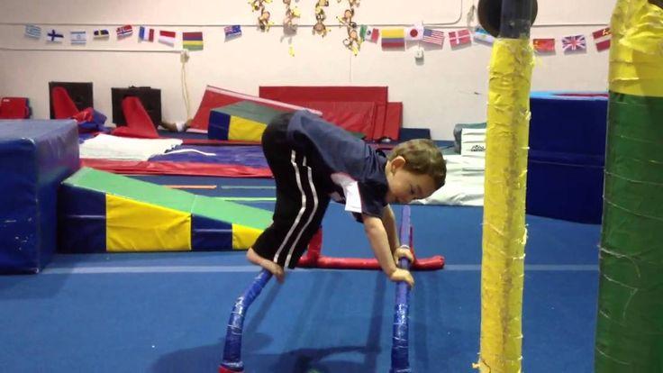 Little Boy Gymnast - Gymnastics routine - YouTube