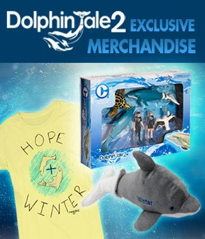 Get your exclusive Dolphin Tale merchandise here! Every purchase helps support our mission!