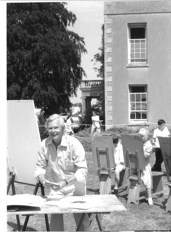 #tbt 1988 Tony Hart came to Art in Action and taught a drawing workshop