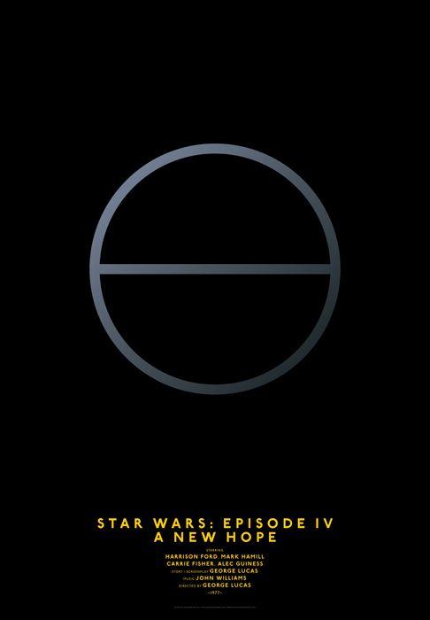 Movie Posters Simplified by Graphic Designer Michal Krasnopolski: Star Wars - Episode IV - A New Hope