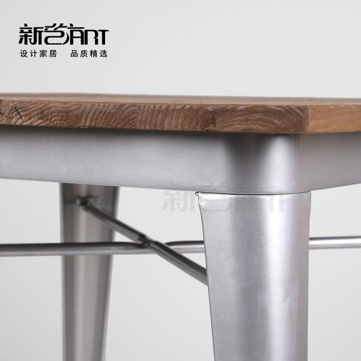 Ретро индустриальном стиле железное дерево обеденный стол дизайнер чердак Американский Железный деревянная мебель стол