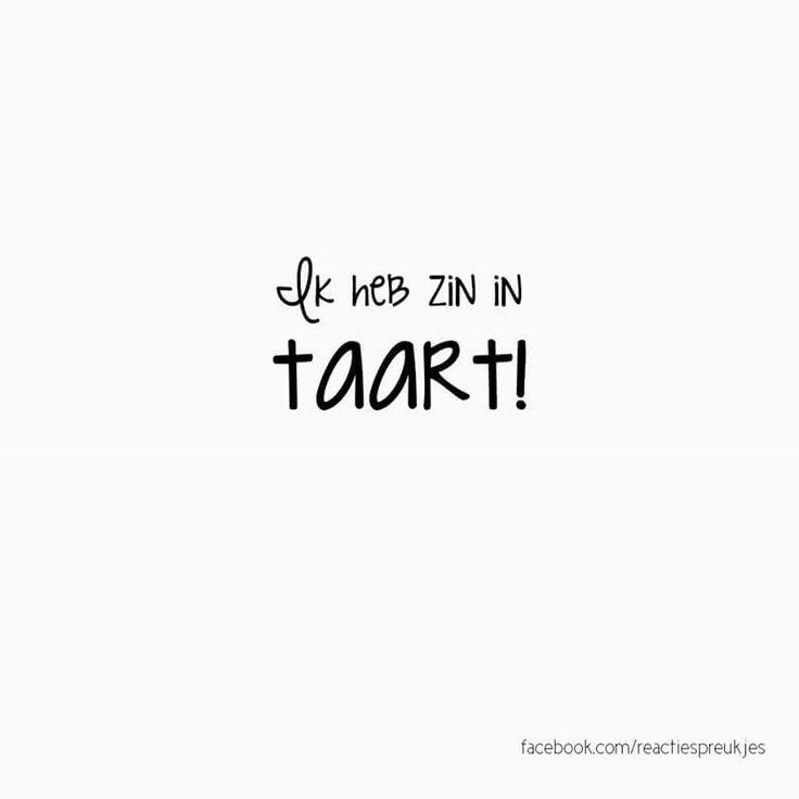 Ik heb zin in taart #dutch #words