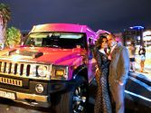 a romantic night out in Pink Hummer limo in Melbourne