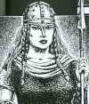 1000s BC: Queen Gwendolen, a legendary ruler of Britain, She was the wife of King Locrinus of the Britons until she defeated him in battle and took on the leadership of Britain herself. Her husband Locrinus was in love with Estrildis, the daughter of the king of Germany whom he rescued from Humber the Hun. Locrinus left Gwendolen and married Estrildis. Gwendolen fled to Cornwall and built up an army. She met Locrinus in battle and defeated him. Gwendolen took the throne.