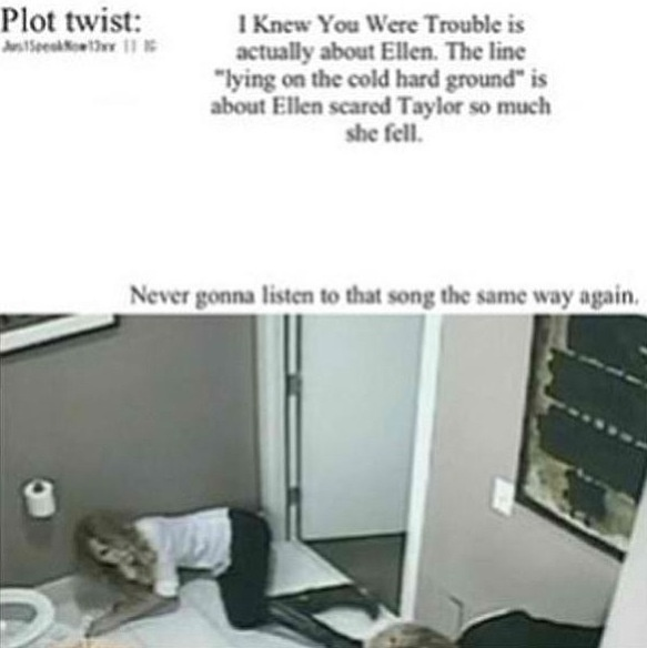 Omg, this all makes sense now!<< Flew me to places I'd never been; thats when ellen took her to the haunted house!! :D