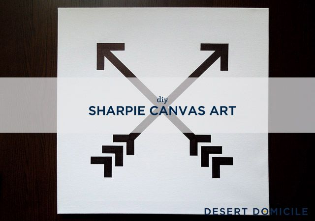 DIY Sharpie Canvas Art // Desert Domicile