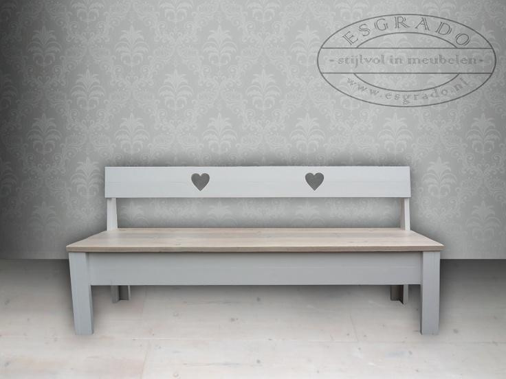 Leuk en schattig bankje van steigerhout mooie meubelen for Ladeblok landelijk