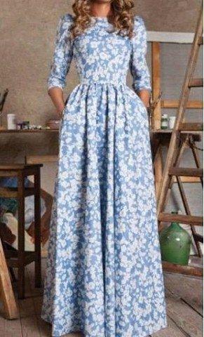 Повседневные платья в пол очень женственны.