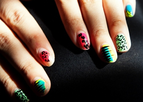 this dumb extreme nail painting fad going on