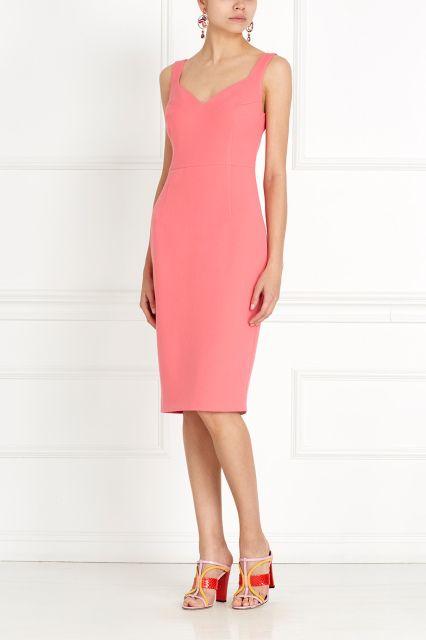 Платье-футляр Daria Bardeeva - Классическое однотонное платье-футляр из коллекции российского бренда Daria Bardeeva в интернет-магазине модной дизайнерской и брендовой одежды