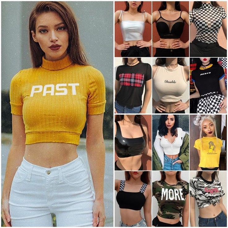 2018 Womens Boob Bralet Cami Vest Casual Crop Top Tank Tops T-Shirt Blouse Shirt