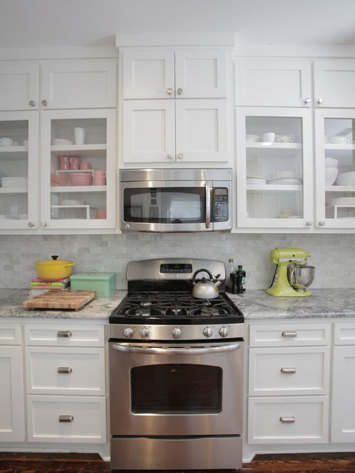 Consider height of vent microwave over stove.