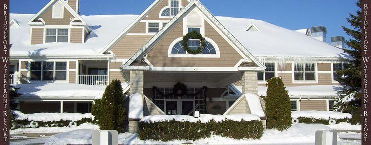 Door County Resort... Bridgeport in the snow!