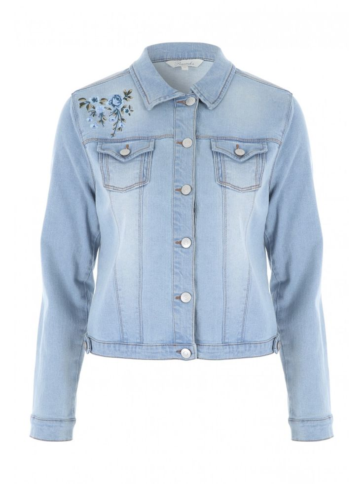 A wardrobe isn't complete until you have a versatile denim jacket, a must-have for any woman's wardrobe. This denim number features long sleeves, front pocke...