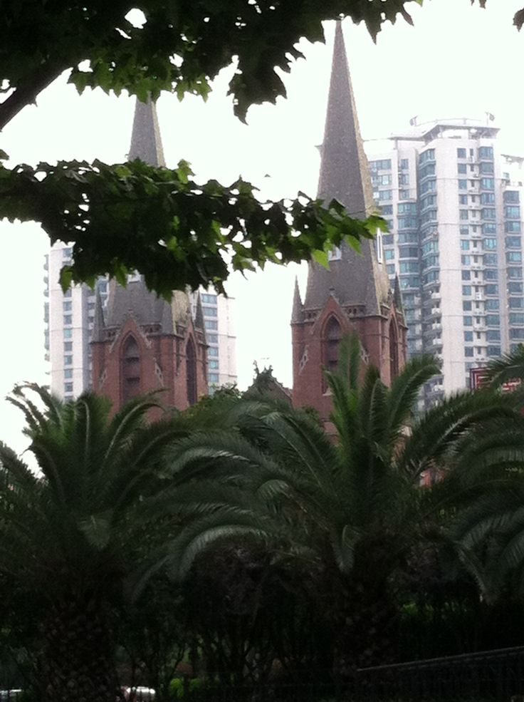 Shanghai is full of the modern next to the old!