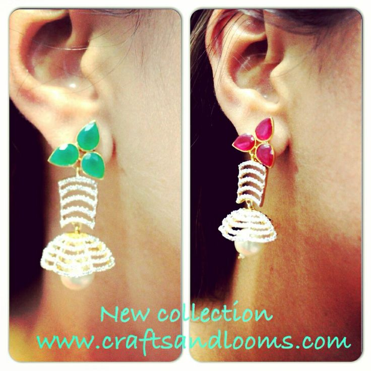 New collection of earrings. Have a look at pretty danglers at - craftsandlooms.com/collections/earrings   #earrings #danglers #fashionwear #designermade #gracious #freshcollection #bestprice #online #buynow #colorful #craftsandlooms