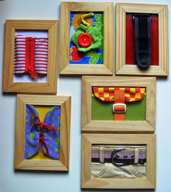 petit budget et gain de place ! DIY Montessori Dressing Frames - Color Your Life in Joy