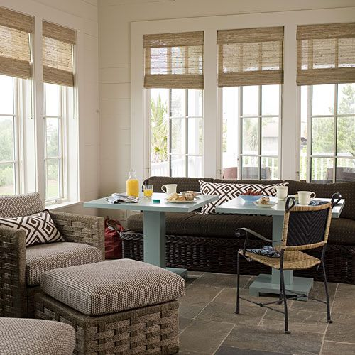 7 best cathedral ceiling treatments images on pinterest for Sunroom breakfast nook
