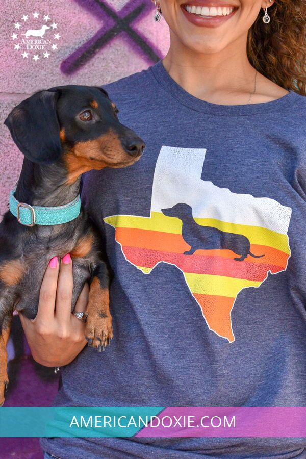 Space City Texas Doxie Tee Dachshund Fashion American Doxie In