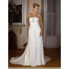 free shipping 2015 NEW White Maternity abiti da sposa Plus Size Bridal Gown Size custom crystal p...