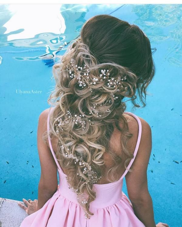 Ulyana Aster Long Bridal Hairstyles for Wedding_04 ❤ See More: http://www.deerpearlflowers.com/long-wedding-hairstyleswe-absolutely-adore/