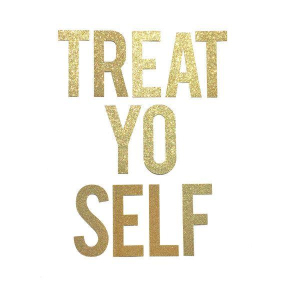 Treat Yo Self Banner // Treat Yo Self Sign PRE-STRUNG // Engagement Party Decor // Wedding Dessert Sign