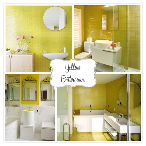 Diy Yellow Bathrooms, Yellow Small Bathrooms And