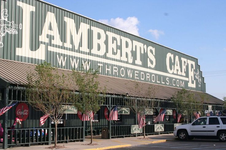"""Lambert's Cafe located in Ozark, Missouri and Sikeston, Missouri / Southern style cooking and """"throwed"""" rolls.   if you leave there hungry, it's your own fault!"""